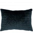 wholesale Cushions & Blankets: Pillows Cassie, velvet look, L40cm, H30cm, dark ...